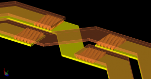 via array in planar inductor